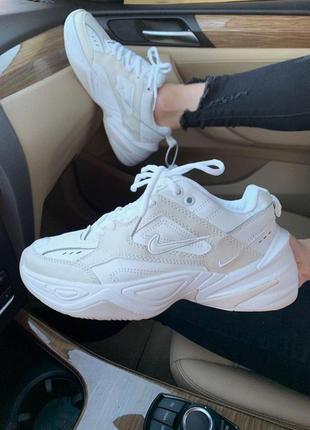 Шикарные женские кроссовки nike m2k summit white