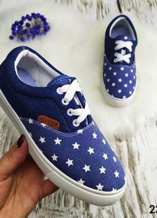 Женские джинсовые мокасины, кеды на шнурках со звездочками gipanis украина