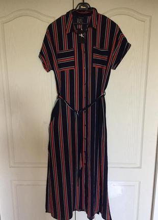 Шикарное, длинное новое платье-рубашка 16uk размер