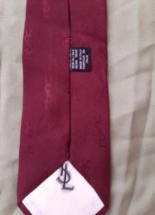 Стильный брендовый мужской галстук yves saint laurent