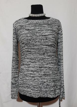 Трендовый свитерок, джемпер по фигуре, сбоку завязка- шнурочек