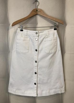 Джинсовая юбка с актуальными карманами от laura eshley