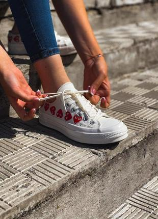 Converse all star white 🔺 женские кроссовки конверс белыe🔺36-40