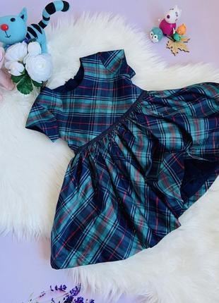Яркое нарядное платье m&s девочке 1-1.5 года