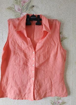 Женская льняная рубашка # рубашка лён # льняная одежда # m&s