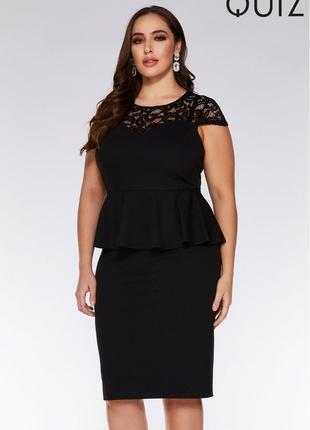 Красивое платье с кружевом размер 18-20 (50-54)