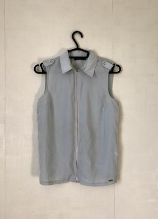Блузка рубашка на молнии mohito