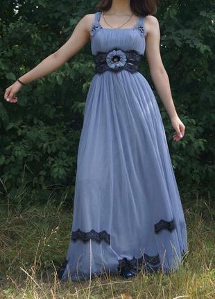 Платье в пол. вечернее платье.