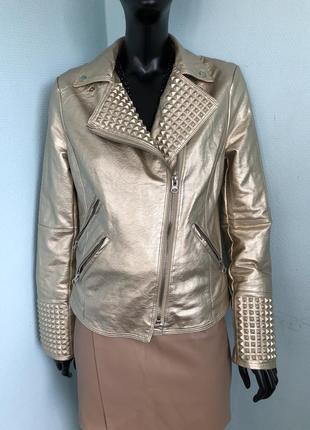 Куртка косуха золотая не zara