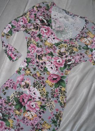 Платье в цветочный принт hm