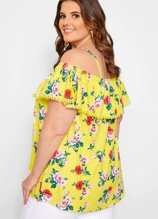 Новая с биркой!! красивая блузка свободного кроя в цветы и бабочки размер 58-60
