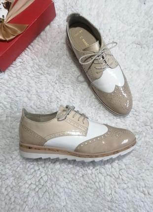 Шикарные туфли оксфорды marco tozzi
