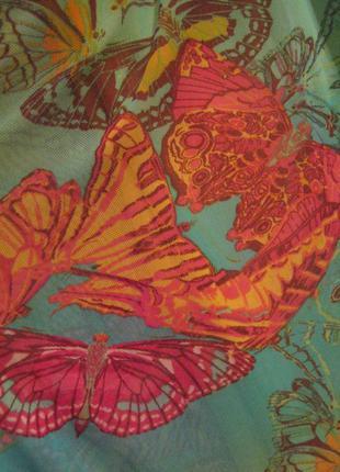 Яркий,сочный, летний, женский сарафан в бабочки: сеточка + стрейч.s-m, 44-46.