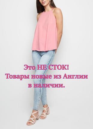 New look. товар из англии. розовая маечка в стиле свинг.