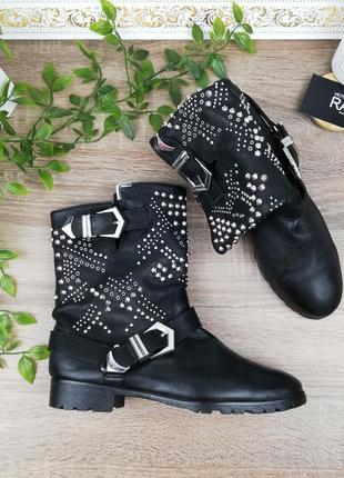 🌿38🌿европа🇪🇺 zara. кожа. фирменные стильные ботинки