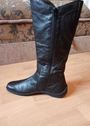 Дания,люкс!шикарные,утепленные,кожаные сапоги,сапожки,ботинки,ботфорты,полусапоги