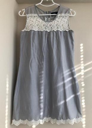 Платье armani exchange с кружевом