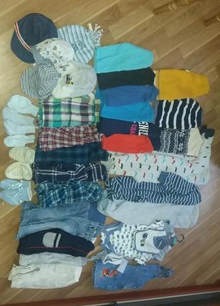 Много одежды на мальчика от 0 до 12 мес