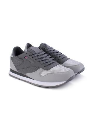 Стильные серые мужские кроссовки деми модные кроссы сетка