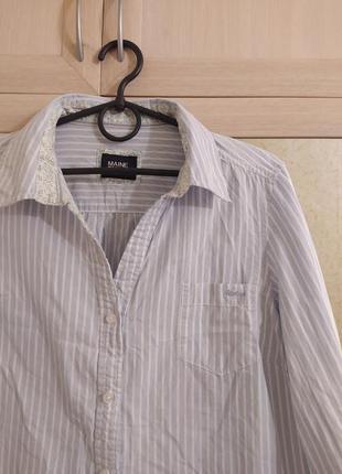 Рубашка в полоску  maine new england