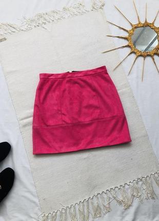 Замшевая мини юбка