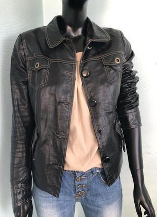 Куртка косуха кожанка кожа натуральная не zara