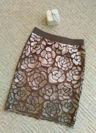 Красивющая юбка с паетками