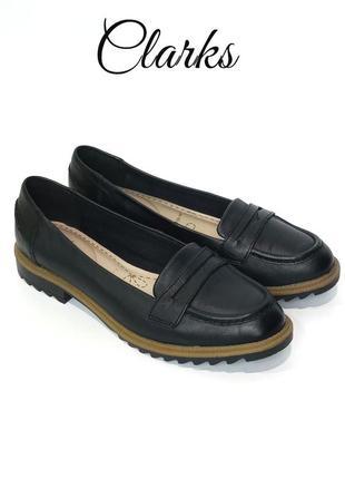 Кожаные туфли лоферы clarks griffin milly оригинал