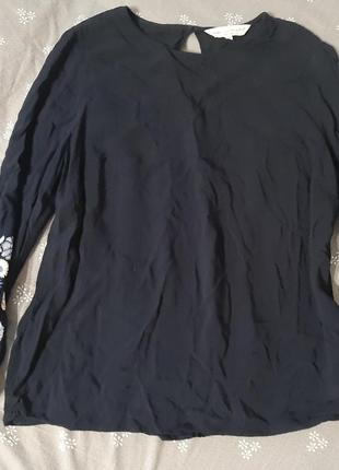 Топ блуза тонкая вискоза типа вышиванка 14 размер