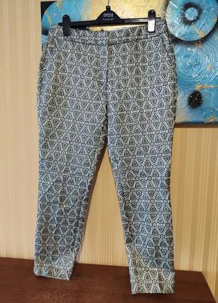 Стильные брюки с люрексом жаккардовые брюки
