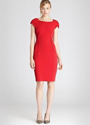 Красное платье миди reiss