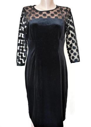Красивое велюровое платье debenhams