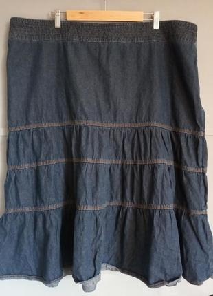 Джинсовая юбка. батал. большой размер. юбка большого размера