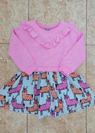 Стильное красивое платье нарядное модное платьице lama next
