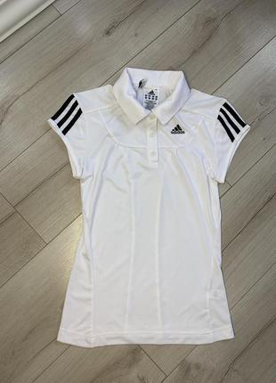 Белая дышащая оригинальная футболка adidas