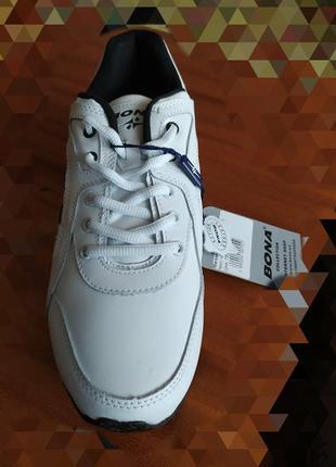 Кожаные мужские кроссовки, размер 45.