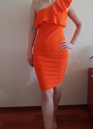 Платье оранжевое mohito (s-m) новое