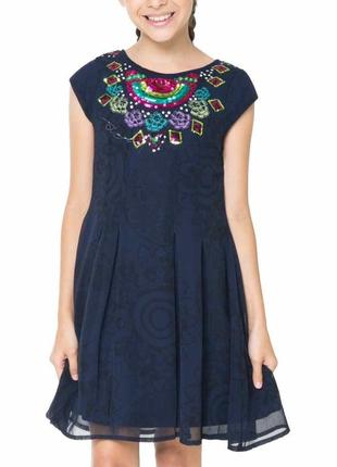 Красивое платье desigual оригинал новое 13-14 лет/158-164