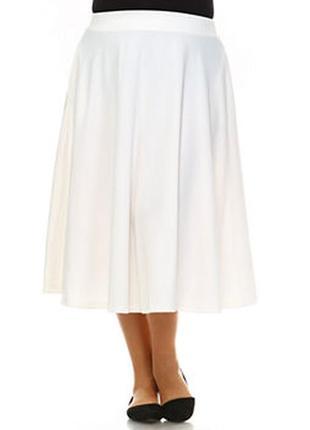 Белоснежная летняя юбка-миди солнце-клёш marks & spencer
