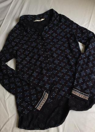 Рубашка в геометрический принт h&m p.xs или подростковый 164,13-14y