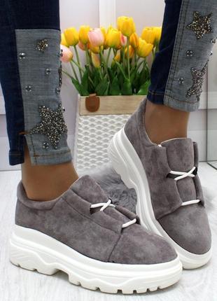 Новые женские серые  туфли