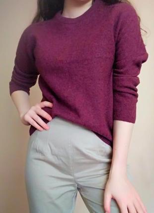 Базовий жіночий бордовий светр - джемпер від m&s