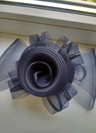 Шляпка, цветок на голову на заколках