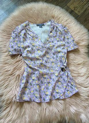 Лавандовая блуза на запах