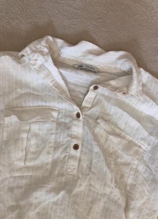 Летняя рубашка с укорочённым рукавом zara