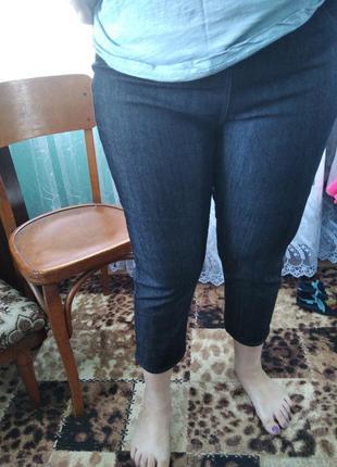 Нові вкорочені джинси на резинці