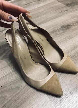 Туфли натуральная кожа и замша