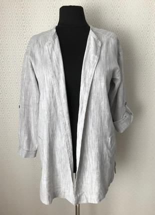 Новый (с этикет) стильный льняной жакет пиджак от f&f ,разм англ 18, нем 46, укр 52-54-56