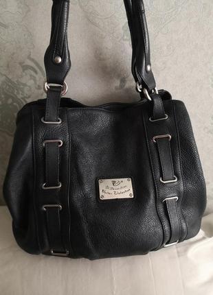Стильная и очень удобная кожаная сумка walter valentino, италия👜👜💥🔥