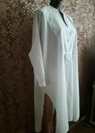 Натуральная рубашка платье ,производство индия